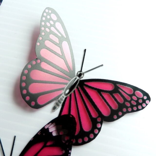25 Pack Butterflies - Crimson - 5 to 6 cm - Topper, Weddings, Crafts, Cards,