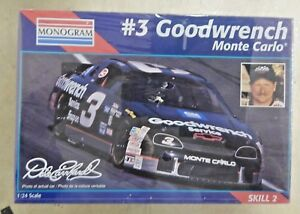 Details About Monogram 3 Dale Earnhardt Goodwrench Monte Carlo 124 Model Kit 2447