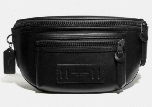NWT Coach Men's Leather Black Terrain Fanny Pack Sling//Belt Bag F75776 MSRP $298