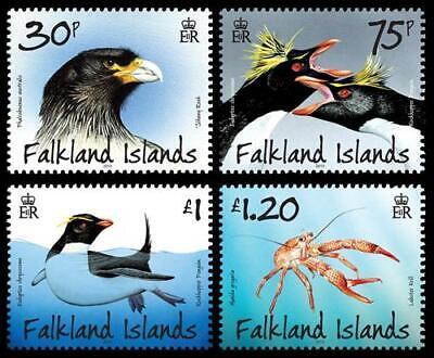 Falkland Islands Vögel Krill Karakara Pinguine 2013 ** Mi. 1201/04