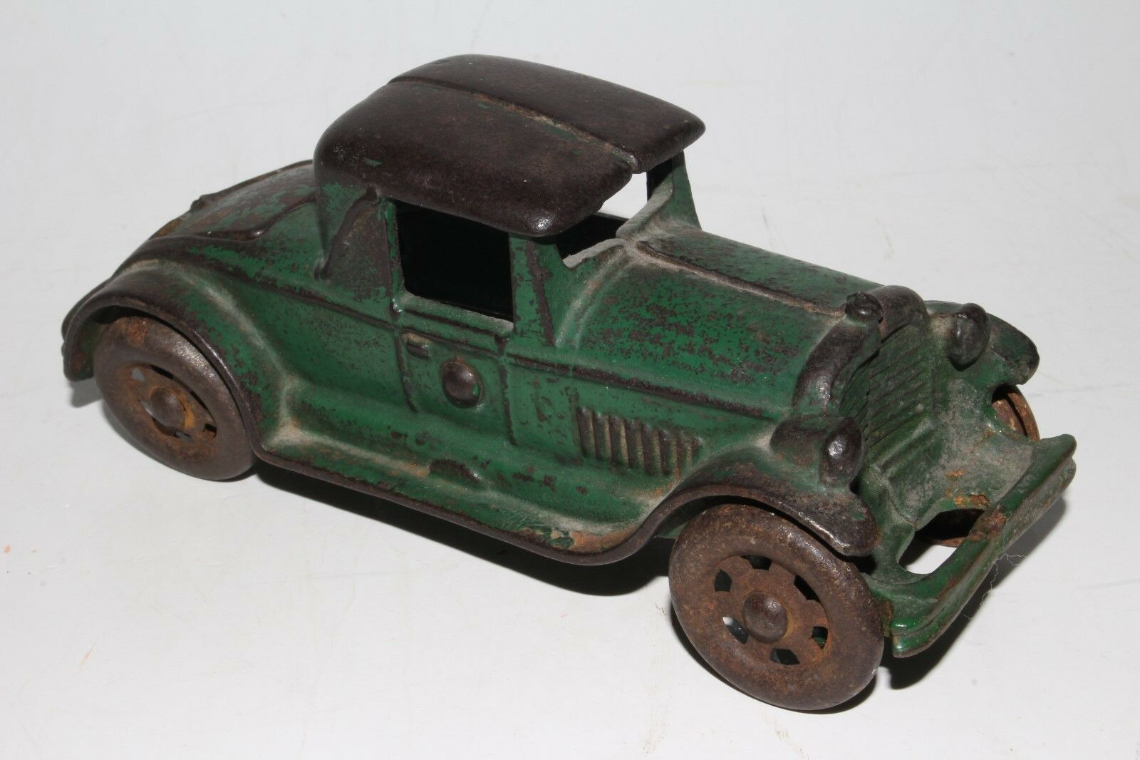 1920's AC Williams Cast Iron Rumble Seat Coupe, verde, Original