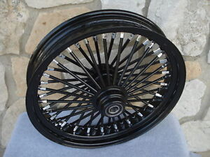 18-034-BLACK-FAT-SPOKE-S-D-FRONT-WHEEL-HARLEY-TOURING-2000-07-amp-FXDWG-2000-05