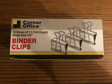 Binder Clips Small 34 12 Boxes Of 12 Count Of 144