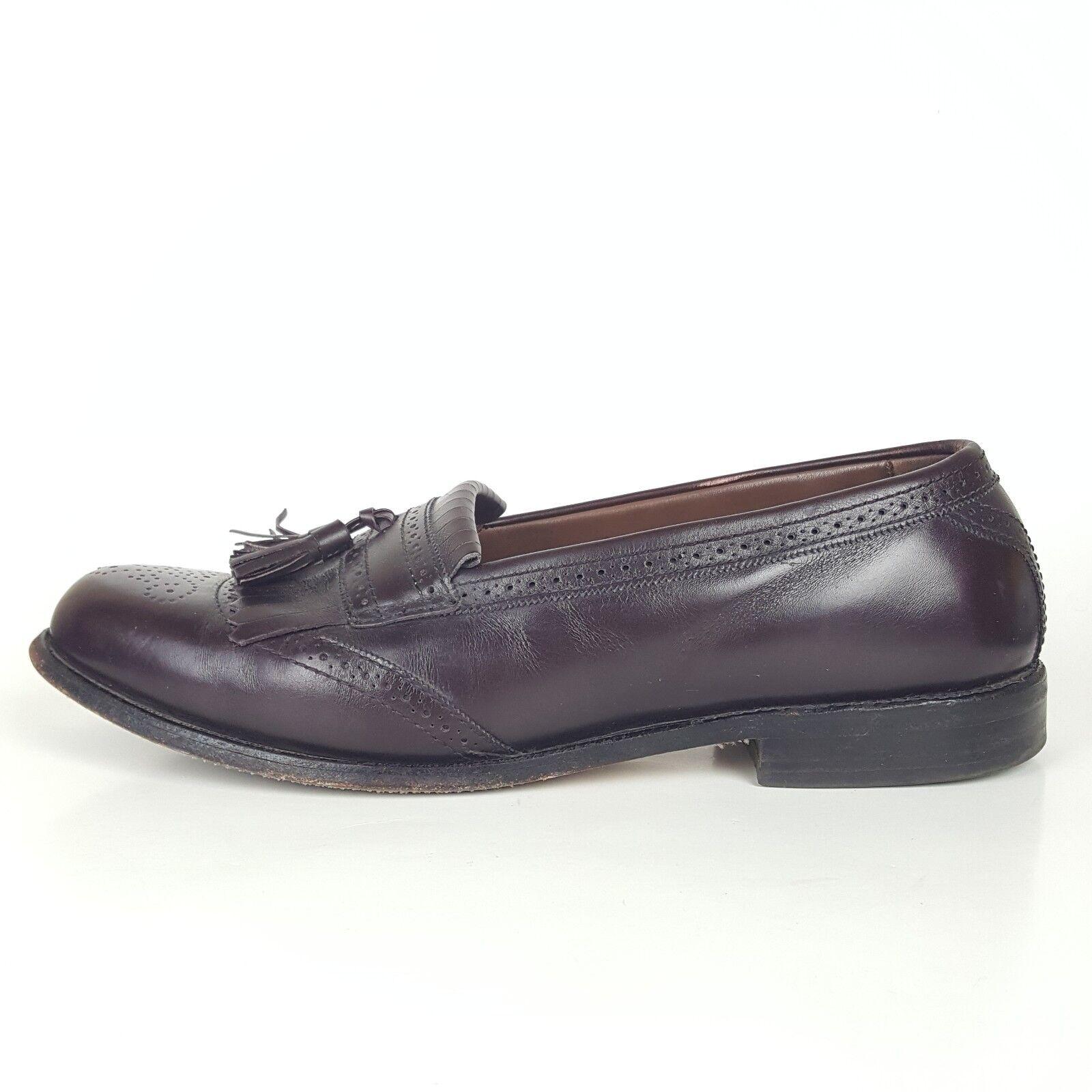 Allen Edmonds Leather Mens Loafers Bridgeton Burgundy Leather Edmonds Slip On Tassel10.5 C $295 5bcf6f
