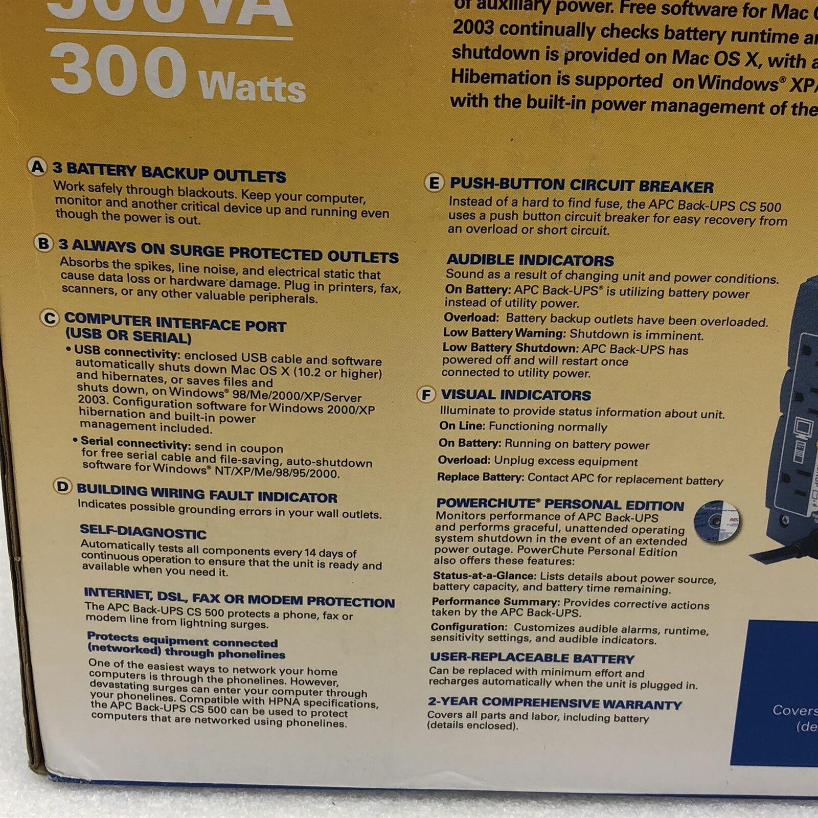 APC BK500 Battery Backup Unit 6 Outlet for sale online | eBay