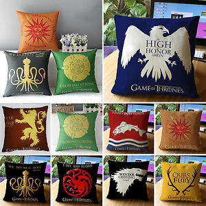 game of thrones kissenbez ge kissenbezug kissenh lle sofakissen kissen h lle neu ebay. Black Bedroom Furniture Sets. Home Design Ideas