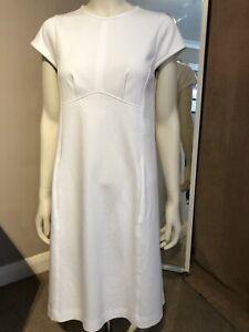 Jil-Sander-Navy-White-Cotton-Minimalist-Dress-EU36-UK8-BNWOT-RRP-475-Stunning