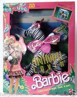 Vintage Animal Lovin Zizi Zebra 1393 Mattel Safari 1988 Mint Playset Pop Up