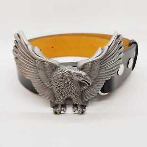 GOLDEN-Eagle-Buckle-amp-Cintura-Cowboy-Western-Indiano-Americano-finitura-peltro-Eagle