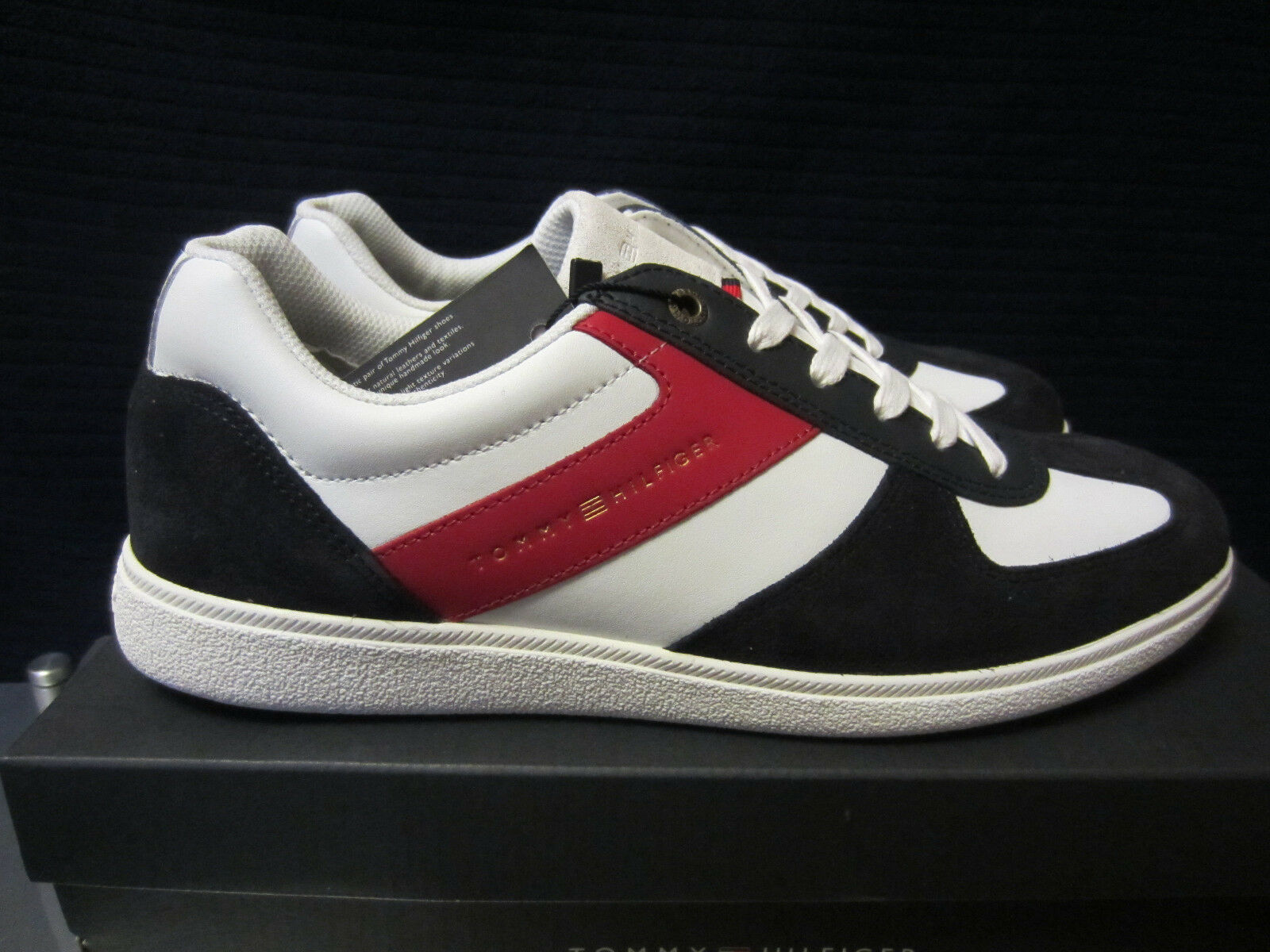 Tommy Hilfiger D2285ANNY 1C1 Sneakers Weiß-blau-rot Gr.44, 45. Neu und OVP