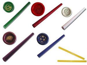 1-Stange-Siegelwachs-11-mm-fuer-Heissklebepistole-Siegel-Wachs-rot-blau-gruen-gelb