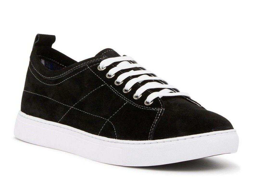 195 Robert Graham Mens Ernesto Fashion Suede Low-Top Sneaker Black Size 9