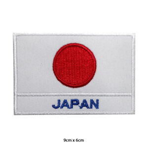 Japan-National-Flag-Embroidered-Patch-Iron-on-Sew-On-Badge-For-Clothes-etc