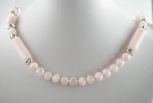 Huebsche-Halskette-mit-Verschluss-Vergoldet-Perlen-50-01g