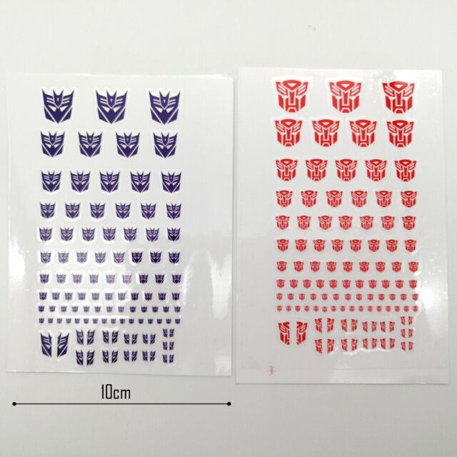 UK stock 90 TRANSFORMERS Masterpiece Autobots symbol stickers sheet stickers