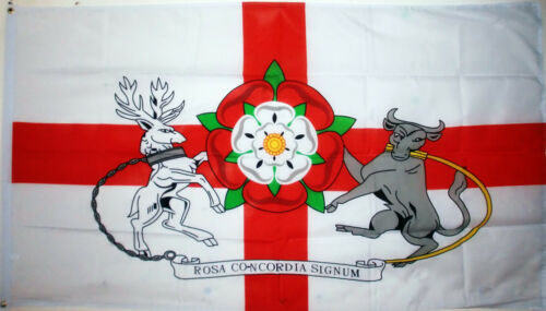 English County Northampton Crest Rose Bull Northamptonshire Old Flag 5 x 3 FT