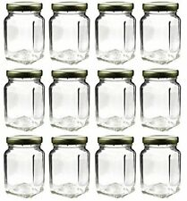 Square Glass Jars Screw On Lids Bulk Value Pack Clear Canister Candy Apothecary