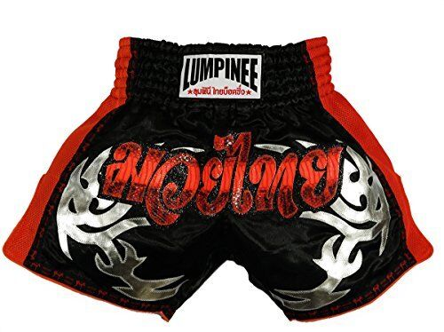 Lumpinee Muay Thai Shorts for men Retro Kiboxing Shorts Retro Red Viper