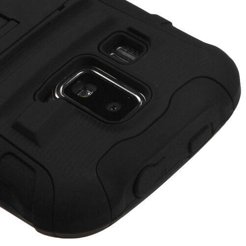 Kyocera Hydro Xtrm C6721 Hybrid AA Armor Case Skin Cover w/Stand Black