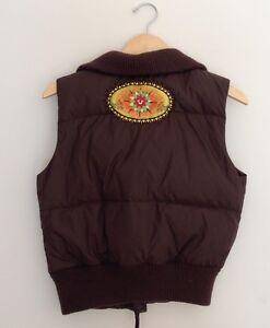 Girls-True-Religion-Brown-Puffer-Vest-Large-14