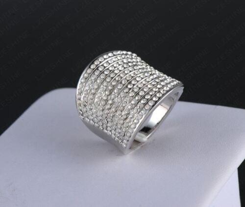 Damen Ring Fingerring Gradient österreichischen Kristall Hochziet Traumring 16