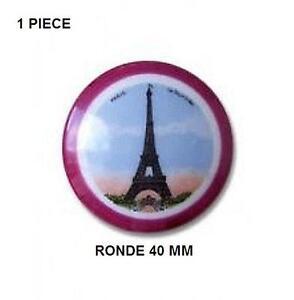 1-PLAQUE-PORCELAINE-LIMOGES-40-MM-TOUR-EIFFEL