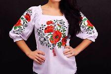 Ukrainian embroidered sorochka, blouse, vyshyvanka, embroidery, Size XXL