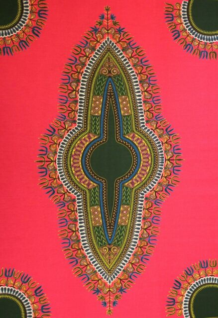 Dashiki Angelina African Java 100% Cotton Print 4 Crafts & Dresses Per 6 Yards