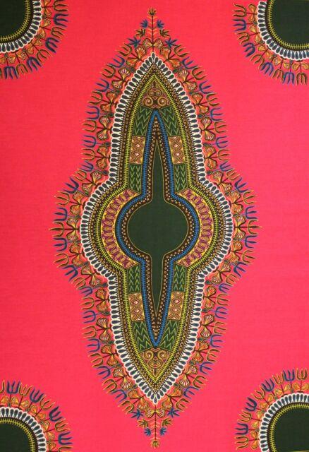 Dashiki Angelina African Java 100% Cotton Print 4 Crafts & Dresses Per 6 Yards