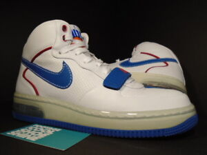 official site excellent quality super popular Details about 2007 Nike Air Force 1 Mid SUPREME MAX CB 34 BARKLEY ALPHA  WHITE RED BLUE Sz 7.5