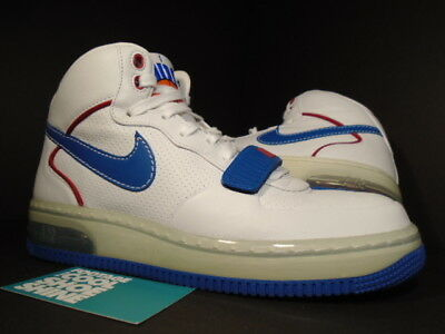 2007 Nike Air Force 1 Mid SUPREME MAX CB 34 BARKLEY ALPHA WHITE RED BLUE Sz 7.5 | eBay