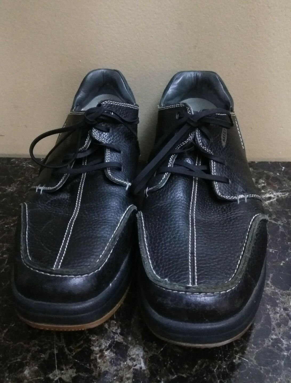 MBT Mens Tariki Lace Up Black Leather Toning Workout Comfort Shoes Size 12.5
