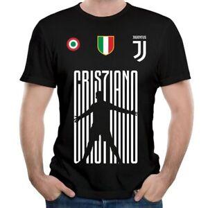 get cheap 64e34 c79cf Details about New CR7 JUVENTUS T-SHIRT Cristiano Ronaldo Top Quality High  Print Sport T Shirt