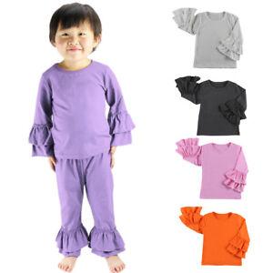 Toddler Baby Girls T-Shirt Icing Ruffle Raglan Dress Tops Baseball ... d3f2722911
