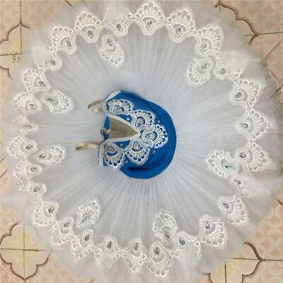 GIRLS Pro SWAN LAKE white BLUE Ballet Tutu Dance Dress Platter Costume lot
