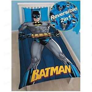 Batman-039-Shadow-039-Set-Housse-de-Couette-Simple-Dc-Comics-2-IN-1