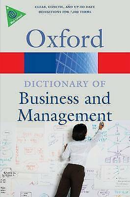1 of 1 - A Dictionary of Business and Management (Oxford Paperback Reference), Good Condi