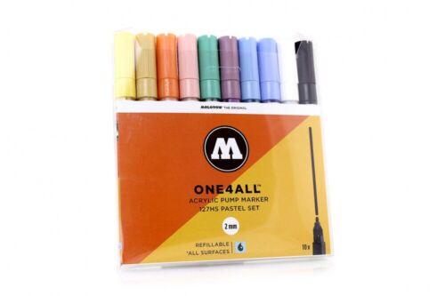 MOLOTOW ONE4ALL Marker 10er Set 127HS Pastel Set