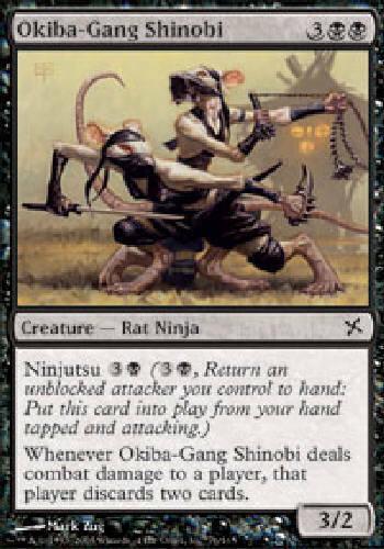 OKIBA-GANG SHINOBI X4 4 4X Betrayers of Kamigawa MTG Magic the Gathering DJMagic