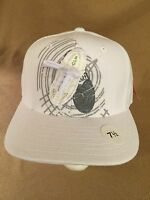 Hat Ball Cap Clench Sz7.5 White Shoes 100% Acrylic Boots