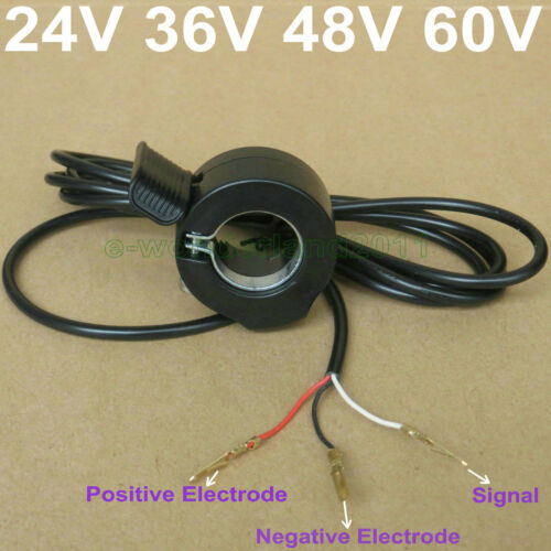 Universal Electric Bicycle Waterproof 7//8/'/' Thumb Throttle Left Right Throttle