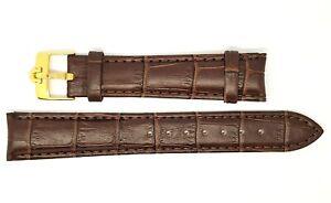 Détails sur Neuf 18mm Marron Véritable Bracelet Montre Cuir avec GP Boucle pour Omega (S 6