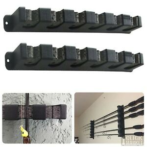 Horizontal Boat Rod Rack Vertical Fishing Holder Wall