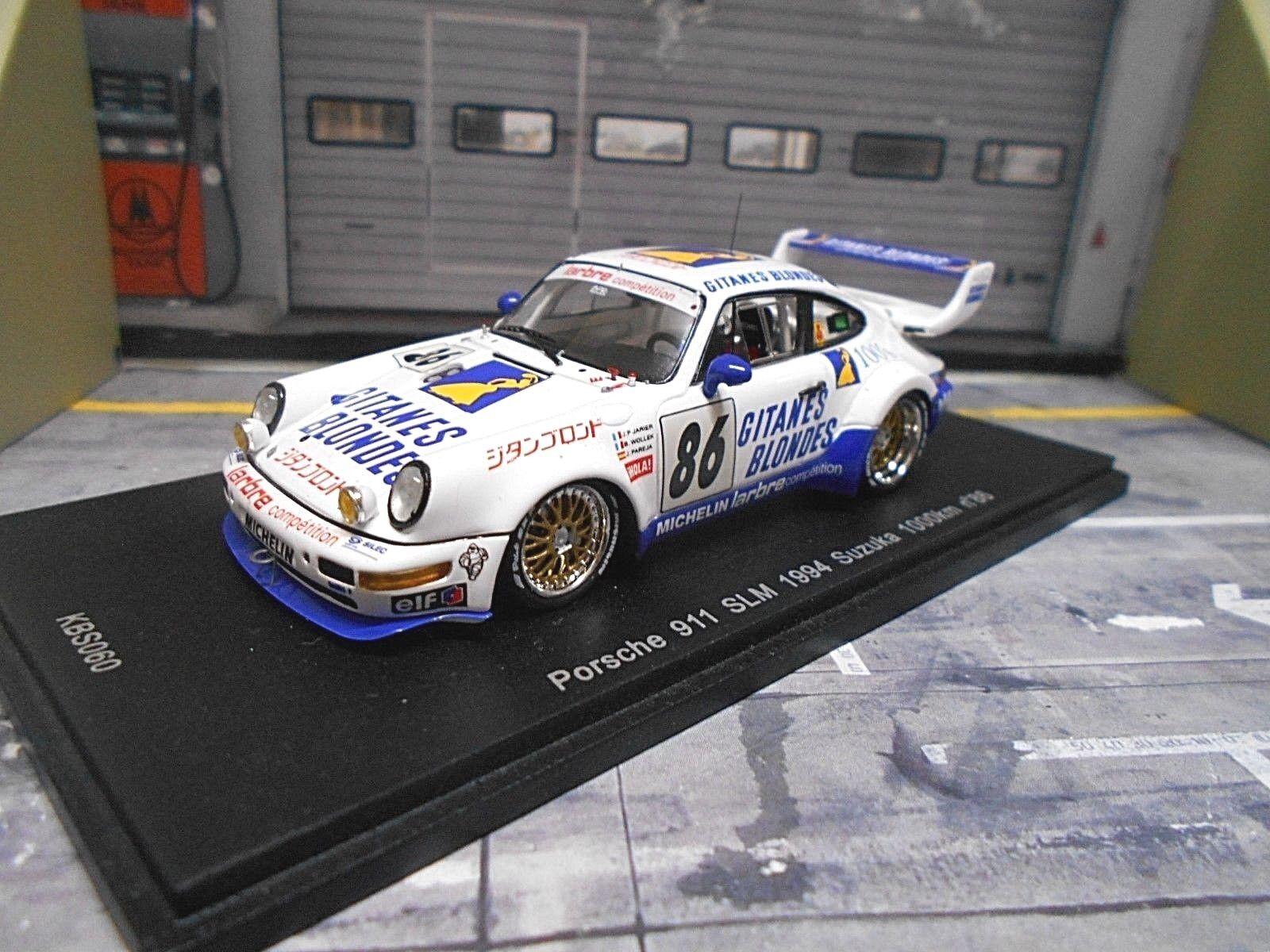 PORSCHE 911 964 SLM  86 SUZUKA GITANES Larbre Jarier Wollek WINNER P SPARK 1:43