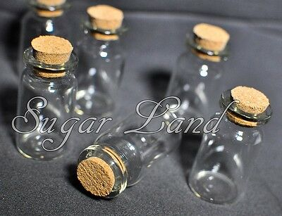 24 Mini Glass Bottles Destination Beach Wedding Fillable Favor Lot Gifts