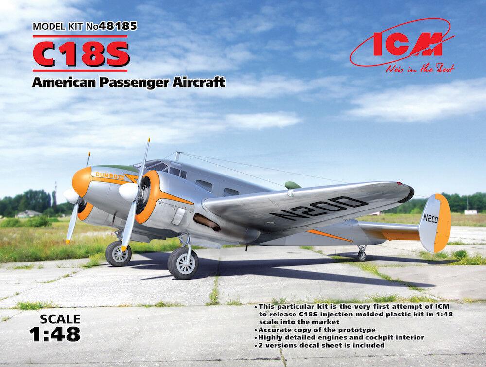 Icm 1 48 Beech C18s Americano Passenger Passenger Passenger Aereo  48185 a5f015