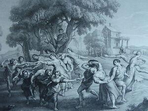 RUBENS-litografia-originale-LA-DANSE-ABITANTI-DEL-VILLAGGIO-1858-FOURMOIS