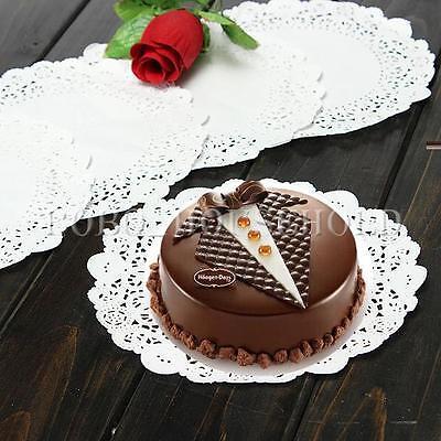 """10/50/100pcs 7.5"""" Round Lace Paper Cup Cake Doilies Wedding Party Decor Placemat"""