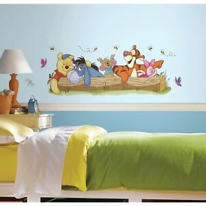 Details About Roommates Winnie The Pooh Outdoor Fun Giant Mural Wall Decals Baby Nursery Decor