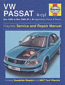 vw passat haynes workshop manual 1996 2000 volkswagen saloon estate rh ebay co uk 2013 Volkswagen Passat Volkswagen Passat Colors